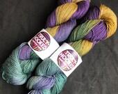 Autumn Riches luxury hand dyed yak blend sock yarn
