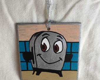 Brave Little Toaster Inspired Glass Ornament