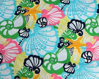 Crystal Coast cotton poplin 18 X 18 inches  ~Lilly Pulitzer~