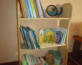 Wood children's bookshelf  / kids bookcases / Wiwiurka