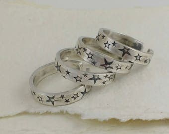 Star Thumb Ring.  Sterling Silver thumb rings. Size 6-7. Silver thumb ring. Thumb rings for women. Words thumb ring. Ring for her. Ring.