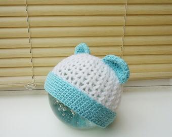 Baby Hat, Crochet Baby Hat, Baby Bear Hat