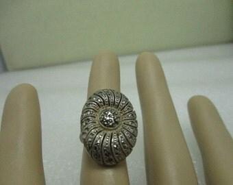 Vintage Sterling Silver German Marcasite Ring, Art Deco 1930-1940's, Size 3.5, 6.67 grams.