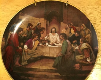 Collectible Jesus Plate - The Last Supper