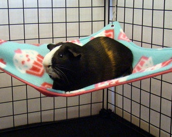 Custom Fleece Hammock corner or square for guinea pig ferret rat small animal cavy sugar glider