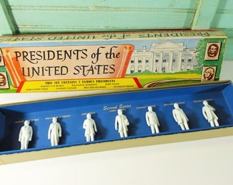 Vintage Louis Marx Toy Presidents of the United States Second Series, Zachary Taylor Doll, Franklin Pierce Figure