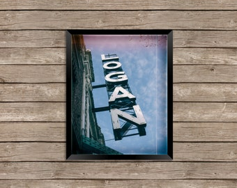 The Logan Theatre - Logan Square, Chicago - Photography Print vintage sign photo