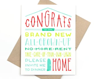 congrats on your new home card - new house card
