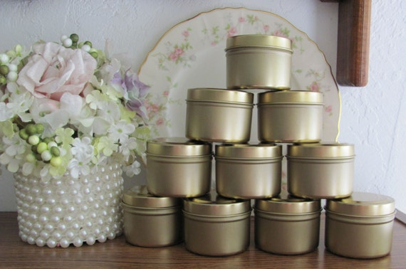 Party Favor Tins Small Gold Tins Party Supplies DIY Candy