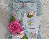 Handmade Old Fashioned Happy Mother's Day Keepsake Card with Easel
