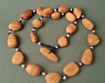 Wooden necklace OAK FAIRY ii