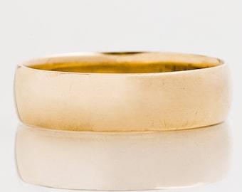 Antique Wedding Band - Antique 18k Rose Gold High Polish Wedding Band