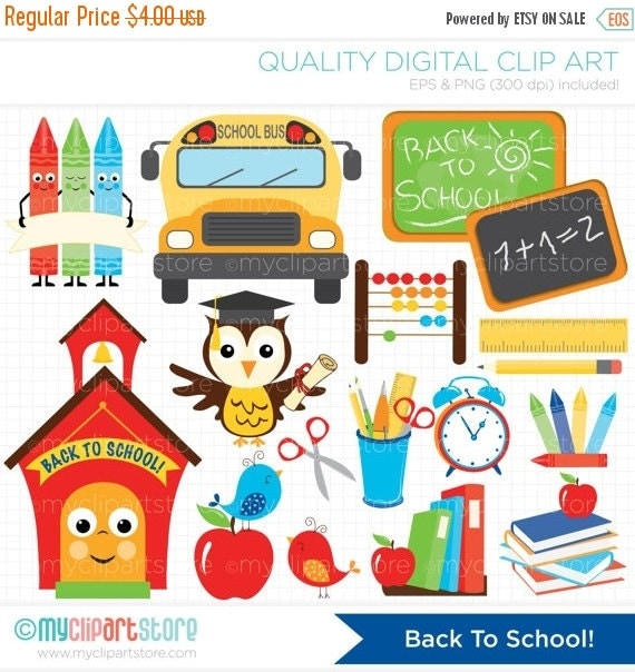 30% OFF SALE Clipart Back To School / by MyClipArtStore on ...