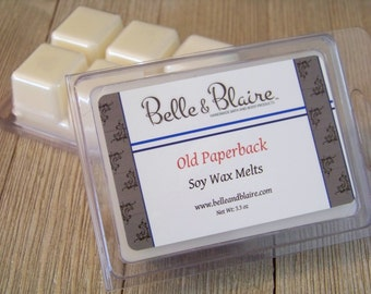 Old Paperback- Soy Melts-  Book Lover Gift- Scented Wax Melts