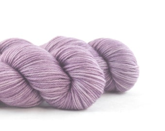 Hand Dyed Superwash Merino DK Yarn Light Purple