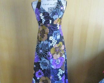 Vintage Liberty House by Sydney Maxi Halter Dress 1970's Small