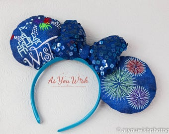 Wishes Castle  Fireworks Limited edition glow in the dark custom embroidery ears!