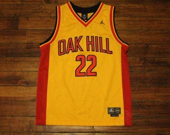 Michael Jordan Jersey NBA basketball oak hill Carmelo Anthony yellow red 22 youth medium