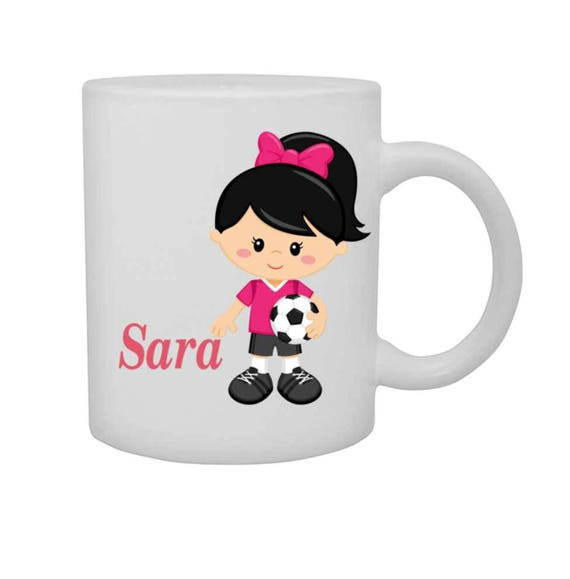 cup girl soccer, girls soccer mug, personalized cup, customized mug, girl sports, girl soccer player cup, cup with name