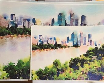 Upgrade - Larger Size Watercolor Print - Introductory Offer