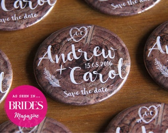 INTO THE WOODS design - Save the Date / Wedding Favour Magnets x 40
