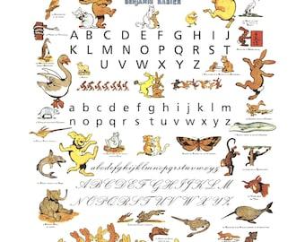 Benjamin Rabier-Alphabet-1995 Poster