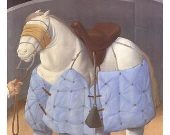 Fernando Botero-El caballo del Picador-1988 Poster