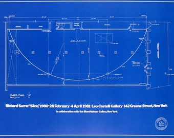 Richard Serra-Slice: Plans for Future Leo Castelli-1981 Poster
