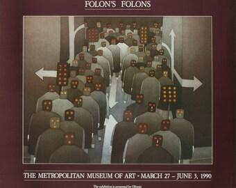 Jean-Michel Folon-The Crowd-1990 Poster