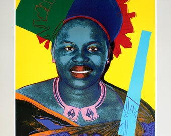 Andy Warhol-Queen Ntombi Twala Of Swaziland from Reigning Queens-1986 Poster