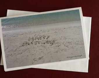 Birthday Half Card / Bearch Art / MVMayoPhotography / Free US Shipping