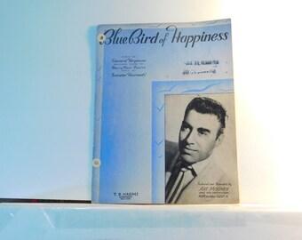 Blue Bird of Happiness - vintage sheet music by Edward Heyman, Harry Parr Davies and Sandor Harmati