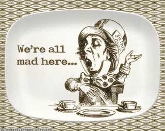 The Mad Hatter III melamine platter