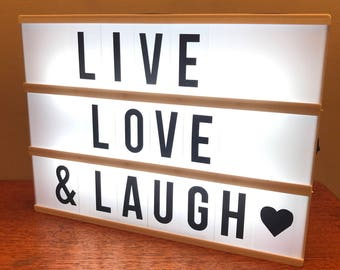 A4 cinematic lightbox - create your own signs!