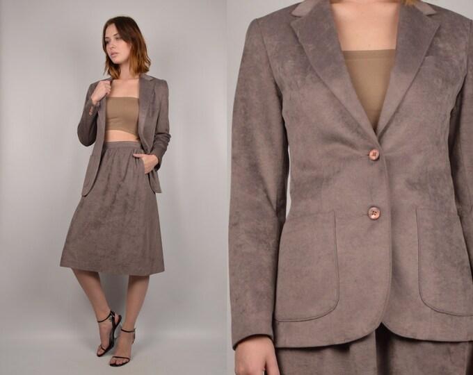 80's Skirt Suit Vintage Blazer minimalist
