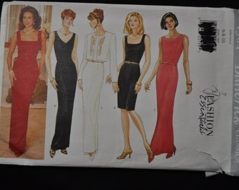 Evening Dress Pattern, Butterick 4304, Sizes 6-8-10, (Fast Easy Classics) UNCUT