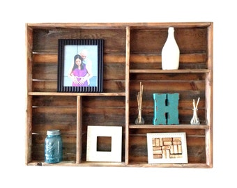 Reclaimed Wood Wall Shelf (large)