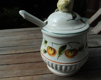 Ceramic jam jar made in Italy