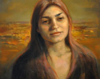 original oil painting 16x20 inch