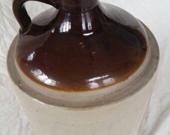 Antique stoneware jug , antique moonshine jug , 2 gallon stoneware jug , 2 gallon whiskey jug