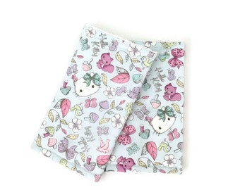 Suckpads for the Baby carrier / Babywearing / droolpads / strapcovers / Teethingpads / Hello Kitty suckpads / Pastel Suckpads
