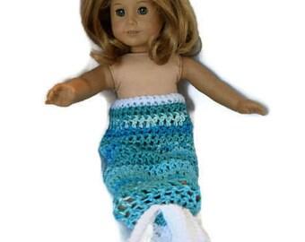 Doll Size Mermaid Blanket 18 Inch Doll Mermaid Blanket Baby Doll Mermaid Blanket American Girl Doll Mermaid Blanket