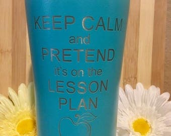 Laser Engraved 20 oz Ozark Tumbler- Perfect Teachers and Couches Gift