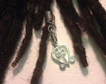 Power of Love Odo Nnyew Fie Kwan African Adinkra Wire Wrapped Hair Bead Dread Locs Dreadlock Jewelry