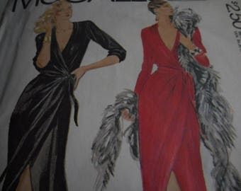 Vintage 1970's McCall's 6838 Bob Mackie Wrap-Dress Sewing Pattern, Size 16 Bust 38