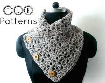 Crochet neck warmer pattern, crochet cowl pattern, scarf cowl pattern, Chunky cowl pattern, Pattern No. 30