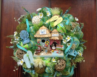 Beach House or Pool Side Wreath