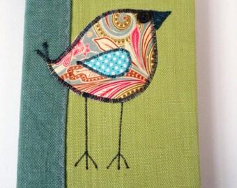 Lemon Green Fabric Covered Notebook -CB008