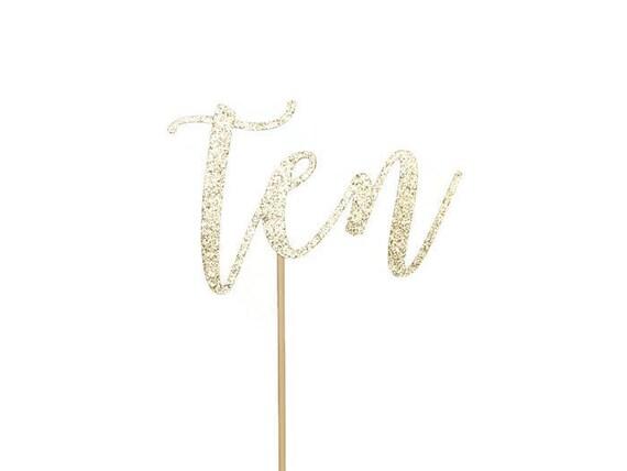 Ten Cake Topper - Glitter - Tenth Birthday. Birthday Cake Topper. Smash Cake Topper. Birthday Party. Tenth Birthday. 10th Birthday.