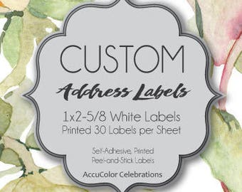 "CUSTOM AddressLabels/ LOCAL PICKUP / 1""x2-5/8"" size / Printed /  #WePrintForYou #AddressLabels #SelfAdhesiveLabels"